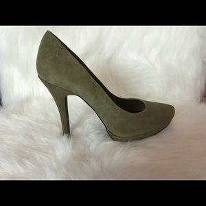 New 7.5 army green suite pumps
